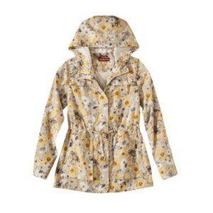 🌻 NWOT - Merona Yellow floral raincoat